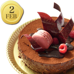 2月のバースデーケーキ