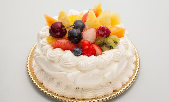 卵抜きデコレーションケーキ
