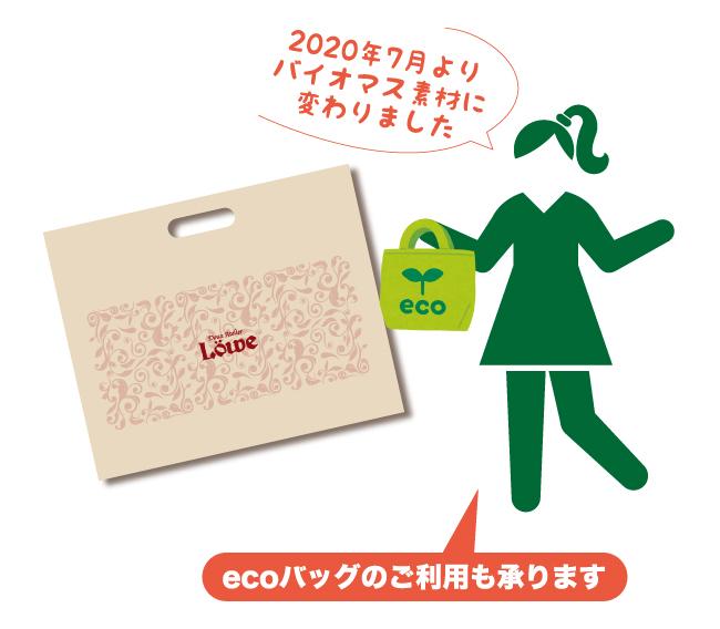 バイオマス素材のお買い物袋の無料継続について