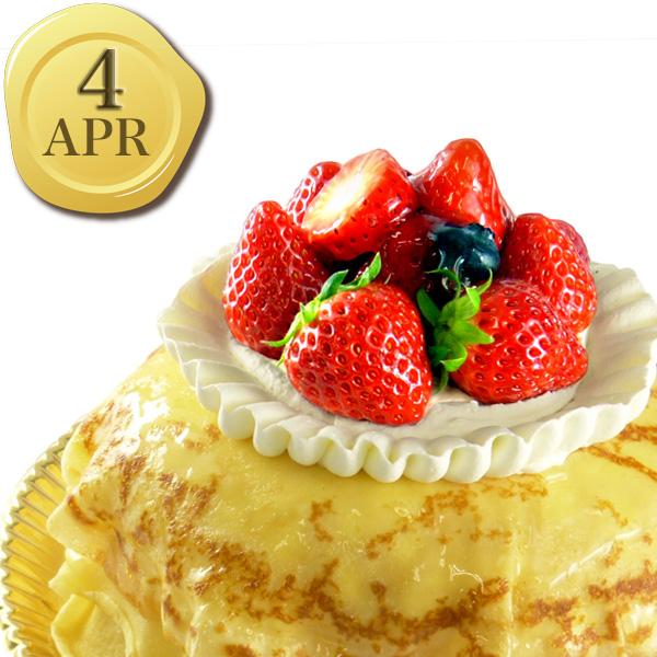 4月のバースデーケーキ